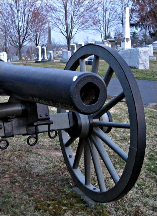 Civil War Cannon and Graves